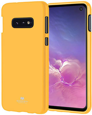 GOOSPERY Slim Fit Pearl Jelly] Rubber TPU Case for Galaxy S10e