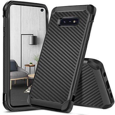 DUEDUE Dual Layer Slim Hybrid S Galaxy S10e Case, Shock Absorbing Cover