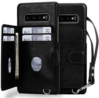 Homelove Galaxy S10 Plus Premium PU Leather Wallet Case