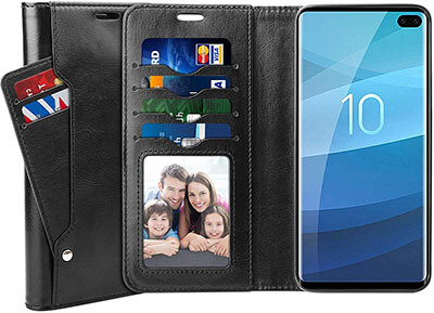 SUPTMAX PU Leather Wallet Case for Samsung Galaxy S10+