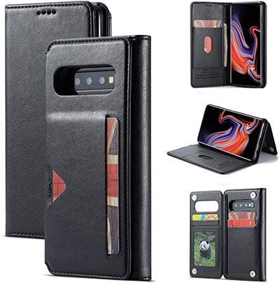 SAVYOU Premium Samsung S10 + Credit Card Flip Protective Case PU Leather Wallet