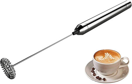 SweetAlice Stainless Steel Electric Milk Frother