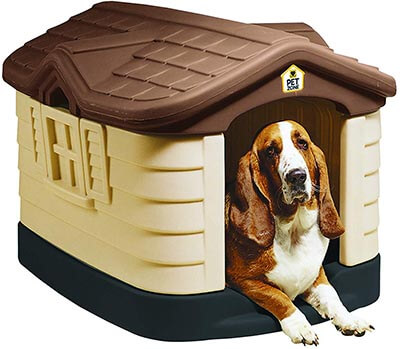 Pet Zone Cozy Cottage Durable-Plastic Dog House