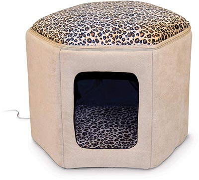 K&H Pet Products Thermo-Kitty Sleep-house Heated Pet Bed
