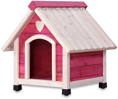 Pet Squeak Princess Pad Dog House, Pink