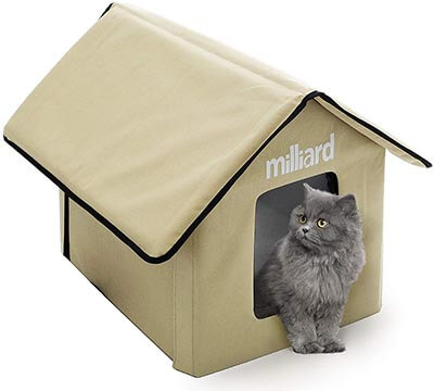 Milliard Portable Outdoor Pet House for Cat, Kitty or Puppy, 22 x 18 x 17 inch