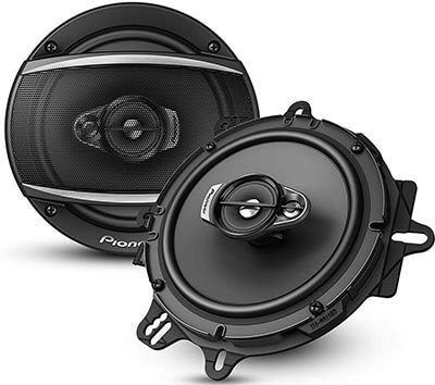 "Pioneer A-Series 6.5"" Max 3-Way Car Speakers Pair-320 Watts"
