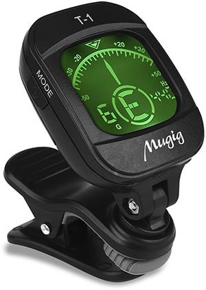 Mugig Tuner Clip-on Tuner for Guitar, Bass, Ukulele, Violin, Chromatic Tuning
