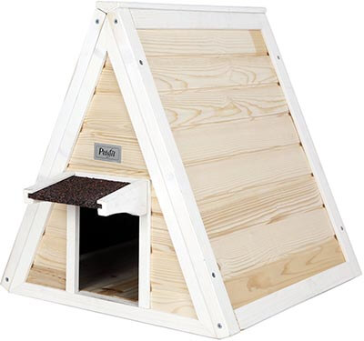 Petsfit Outdoor/Indoor Cat Shelter Feral Cat, Wooden Cat Condo