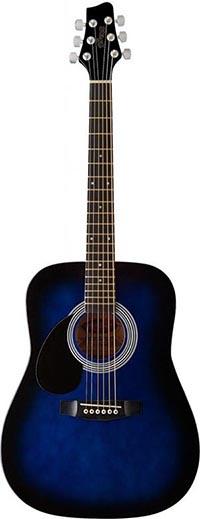 Austin Bazaar bundles Starion ST-SW201 Left- Handed 3/4 Sized Dreadnought Acoustic Guitar