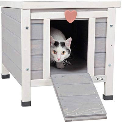 "Petsfit Weatherproof Cat House, 20"" x 16"" x 17""- Outdoor/Indoor"