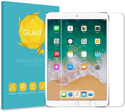 """Fintie Tempered Glass Screen Protector for iPad Air 3 10.5"""" / iPad Pro 10.5"""""""