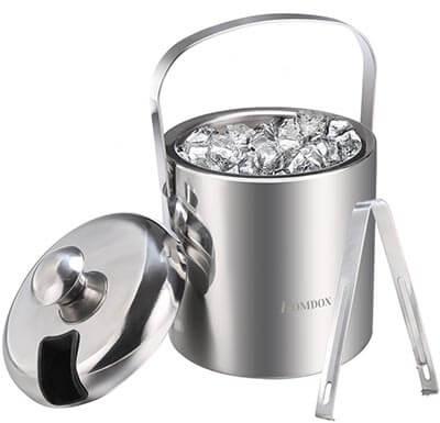 Homdox Ice Bucket Stainless Steel Ice-Buckets
