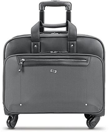 Solo Gramercy Park 17.3-Inch Rolling Laptop Case, Grey