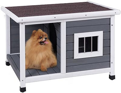 Tangkula Dog House Wooden weatherproof pet house
