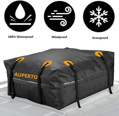 AUPERTO Waterproof Roof Storage Bag for Truck ATV Canvas Jeep