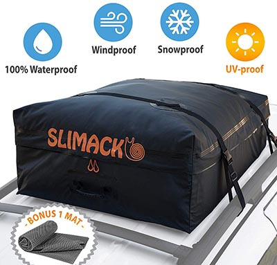 Slimack Rooftop Cargo Carrier Waterproof Luggage Carrier with Mat