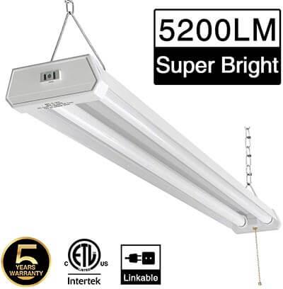 ZJOJO Linkable LED 42W 5200lm Shop Light for Garage 4FT, 6000-6500K