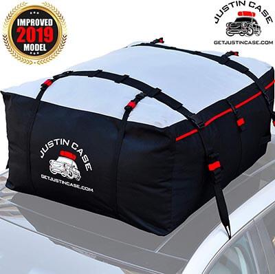 Justin Case 19 Cubic Feet Heavy Duty Waterproof Rooftop Cargo Carrier Bag