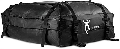 FitPlus Roof Cargo Bag 15 Cubic Feet Stylish Car Roof Bag