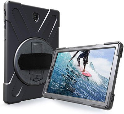 Azzsy Galaxy Tab S4 Case with 360 Degree Swivel Stand
