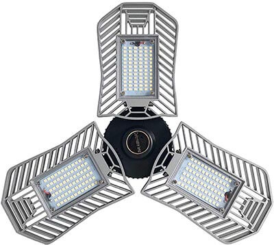 Coomoors LED Garage Lights Deformable Ceiling Lights, 8000 Lumens, 84W