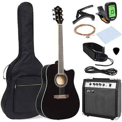 Best Choice Products 41-inch Full Size Acoustic Electric Cutaway Guitar