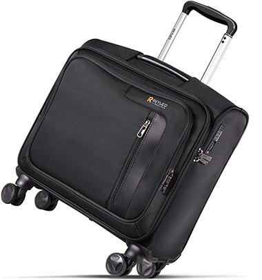 REYLEO Rolling Briefcase on 8 Wheels Rolling Laptop Bag Rolling
