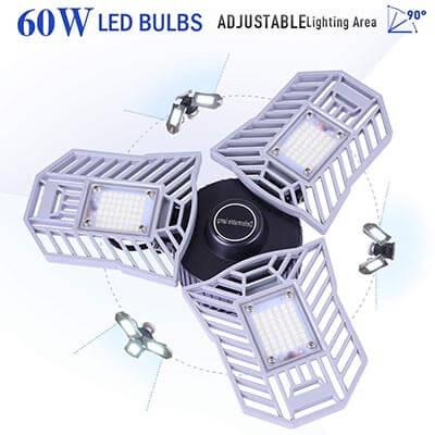 LifeLUX Garage Lighting, E26 Led Bulb 6000 Lumen Led Garage Ceiling Lights