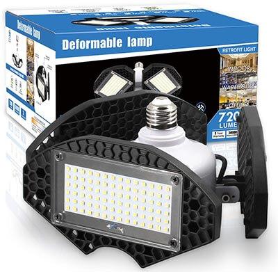 ZJOJO LED Garage Lights, 100Watts Deformable LED Garage Ceiling Lights