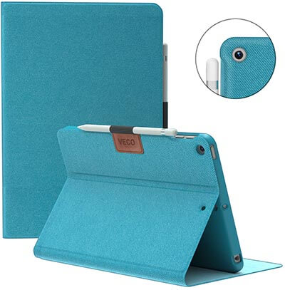 "Veco iPad Air 3 10.5"" 2020 Case with Pencil Holder"
