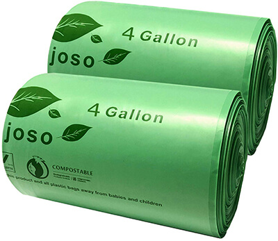 Aijoso ASTM D6400 Compostable Trash Bags
