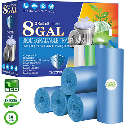 OKKEAI Biodegradable Kitchen Trash Bags