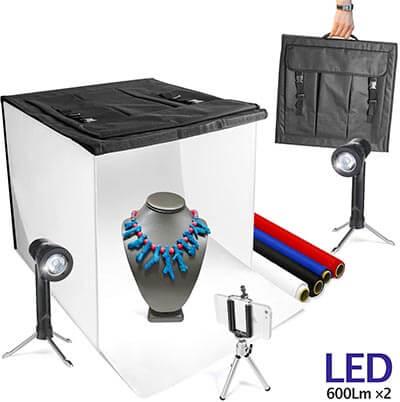 "LimoStudio 16"" by 16"" Table Top Photography Studio Lighting Light Tent Kit"