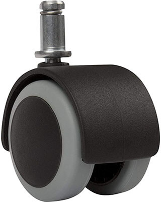 Slipstick CB680 2'' Floor Protecting Rubber Office Chair Casters