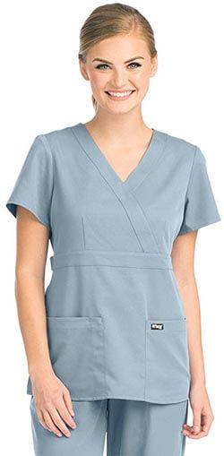 Barco - Grey's Anatomy 4153 Women's Mock-Wrap Scrub Top