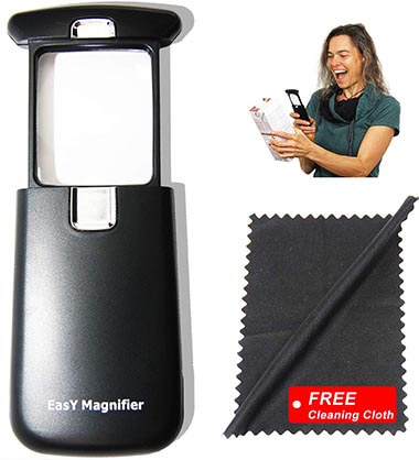 Easy Magnifier Hand-Held Lighted Magnify Glasses