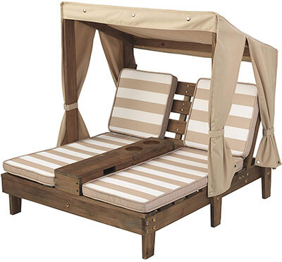 KidKraft Double Chaise Lounge with Cup Holders