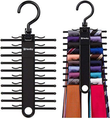 Tenby Living 2-Pack Black Tie Rack