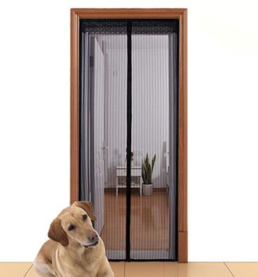 Aloudy Magnetic Screen Door Full Frame Velcro Instant Mesh Curtain