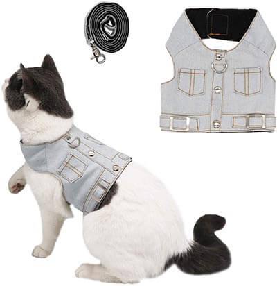 Ruri's Cat Jeans Jacket Harness Vest