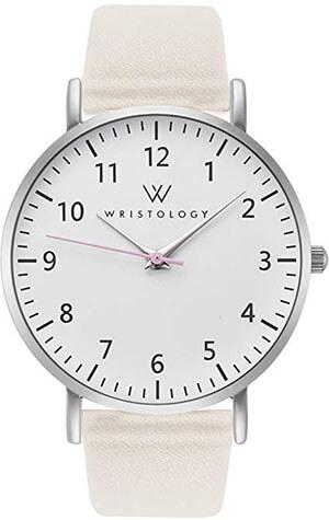 WRISTOLOGY Olivia 'Women's Silver Numbers Wrist Watch