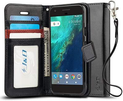 J&D Wallet Case for Google Pixel