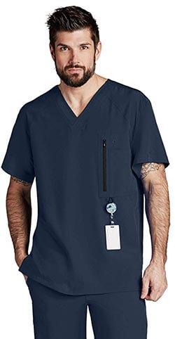 Barco One Men's 0115 5 Pocket V-Neck Scrub Top