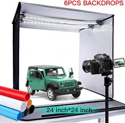 FOSITAN Portable Photo Studio with LightBox Studio Shooting Tent with 126 LEDs