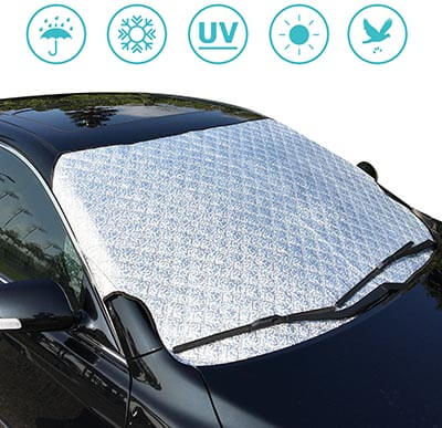 Sukceso Car Windshield Cover for Snow, Ice, and Sun