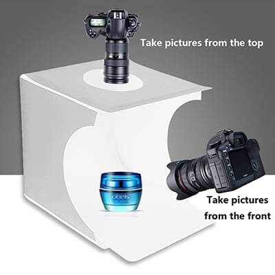 JHS-TECH Portable Jewelry Folding Photography Booth with Waterproof Background Screen