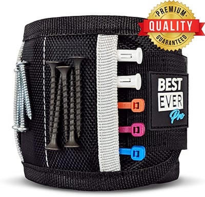 Best Ever Pro Magnetic Wristband with Strong Magnets and Pockets