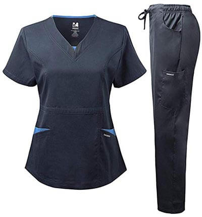 Dagacci Medical Uniform Women's Scrubs Set