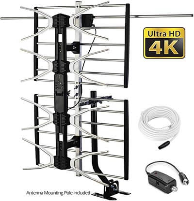 pingbingding Long Range Antenna High Gain UHF/VHF Digital Antenna Amplified Antenna, 150 Miles Range